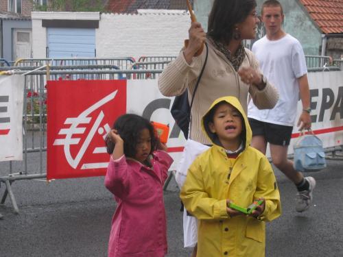 Les jeunes supporters de Courir au mont